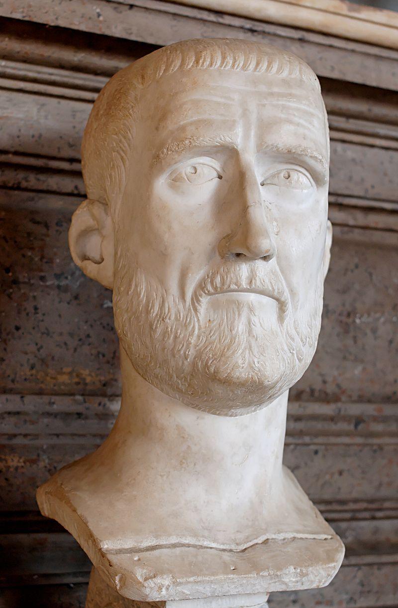 Aureliano de Probo. VIRTVS PROBI AVG. Emperador a caballo alanceando a enemigo. Siscia. 800px-20