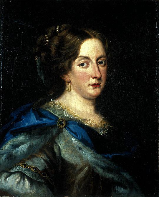 Solidus de Riga. Cristina I de Suecia, 1644 Christ10
