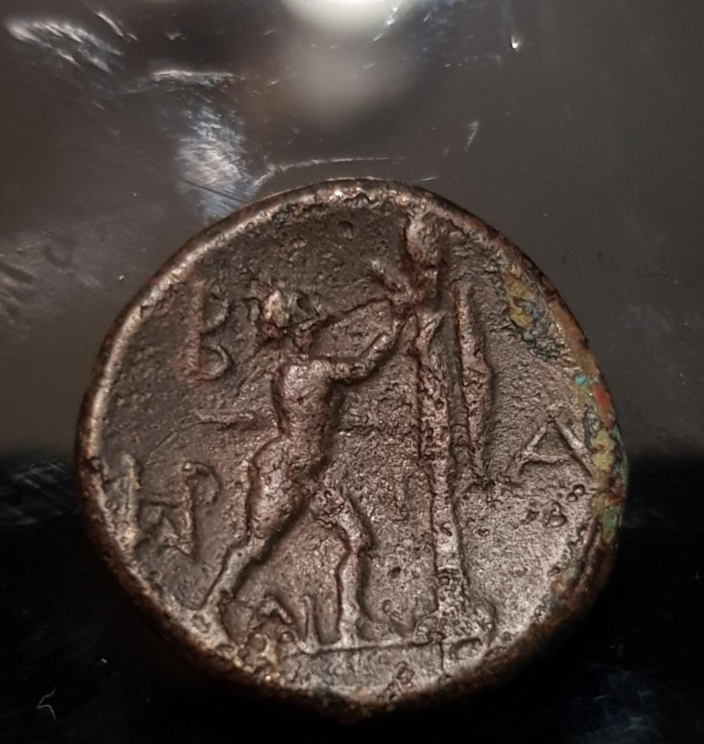 Unidad de cobre de Antígono II Gónatas. Reino de Macedonia, c.250 a.C. Img-2033