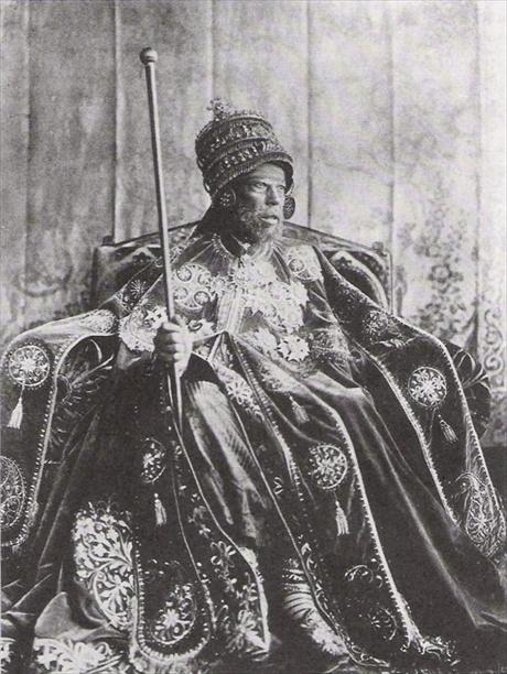 Imperio Etíope. 1 Birr, 1900. Menelik II. Meneli10
