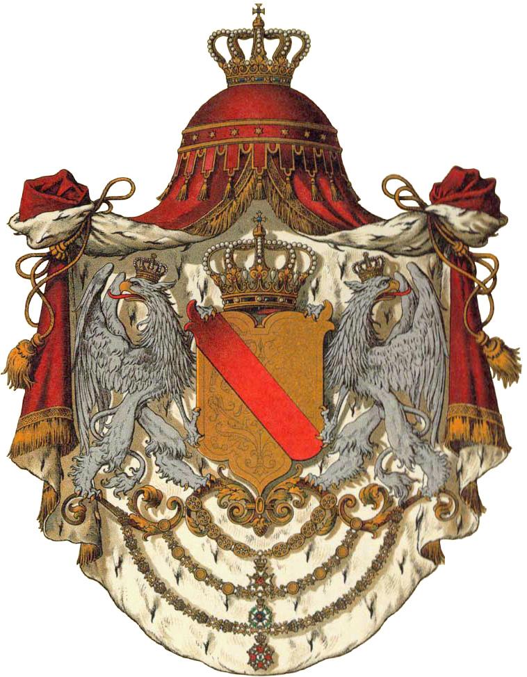 Gran Ducado de Baden. 5 Mark, 1902 G. Federico I. Wappen10