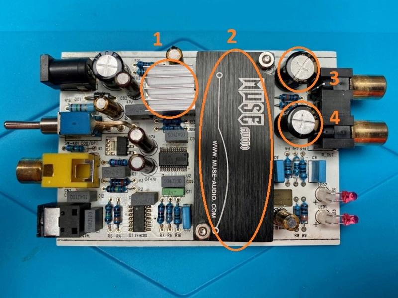 Avis pour amélioration Dac Muse TDA1543x4 Dac-td10