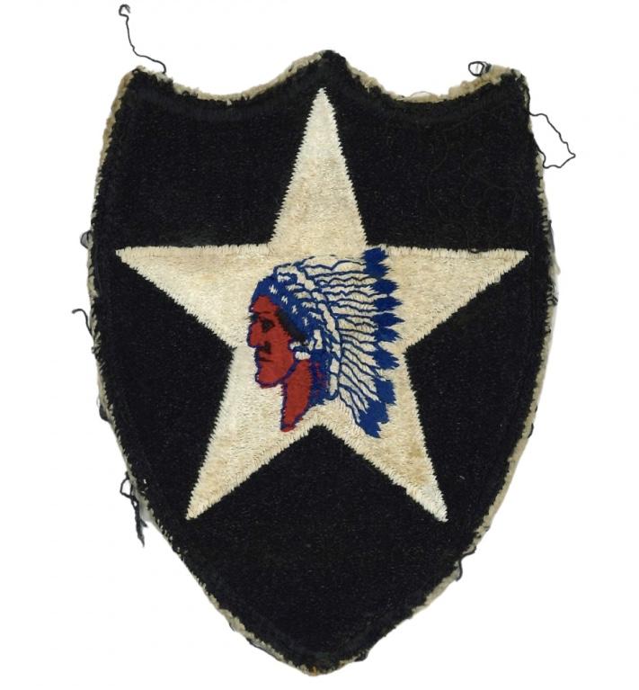 Authentification patch - insigne américain 2 ème division ( tête d'indien ) Fullsi20