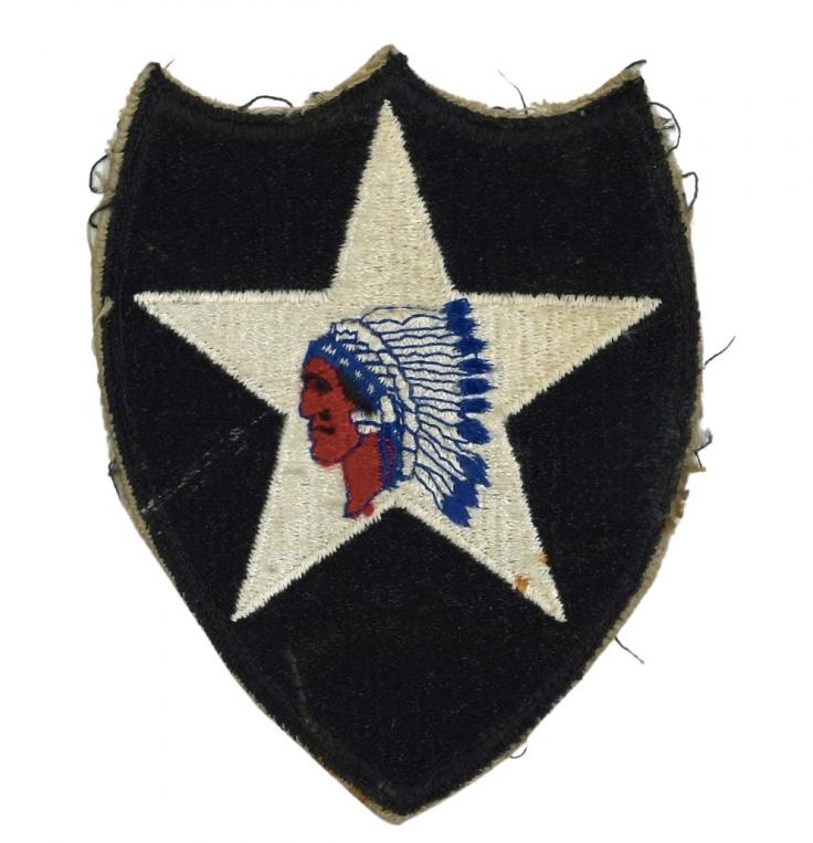 Authentification patch - insigne américain 2 ème division ( tête d'indien ) Fullsi21