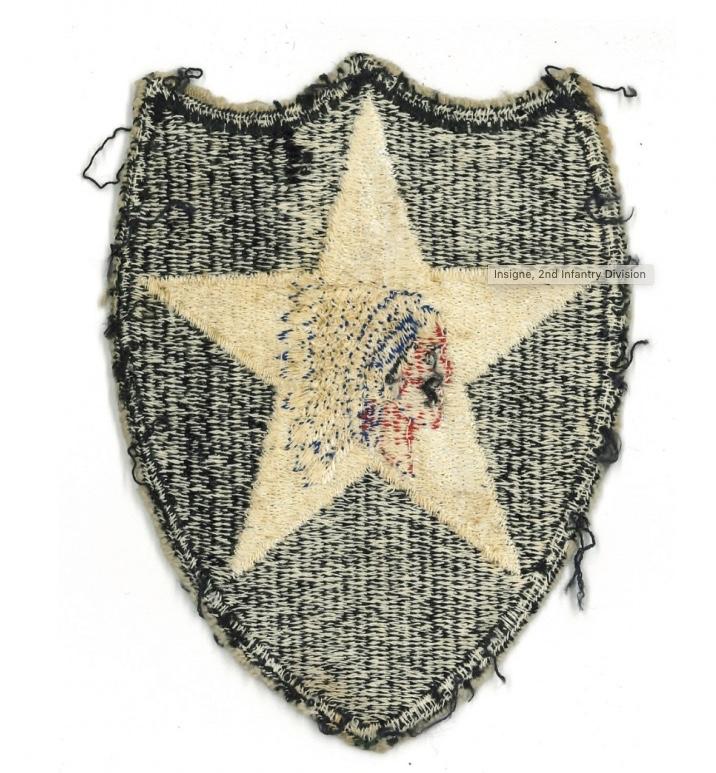 Authentification patch - insigne américain 2 ème division ( tête d'indien ) Fullsi22