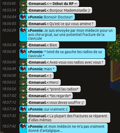 [C.H.U] Rapports d'actions RP d'-Emmanuel.- 111