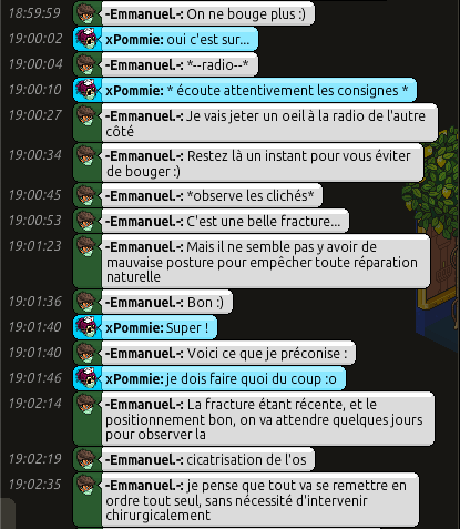 [C.H.U] Rapports d'actions RP d'-Emmanuel.- 311