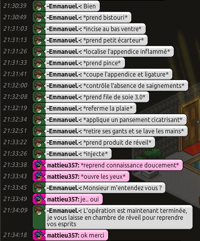 [C.H.U] Rapports d'actions RP d'-Emmanuel.- 412