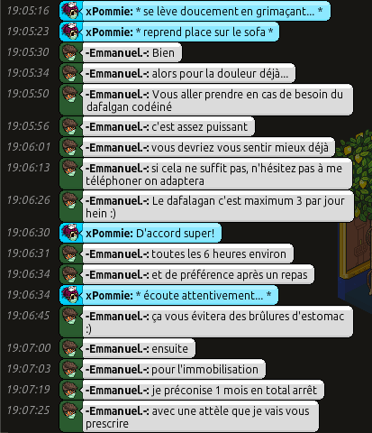 [C.H.U] Rapports d'actions RP d'-Emmanuel.- 511