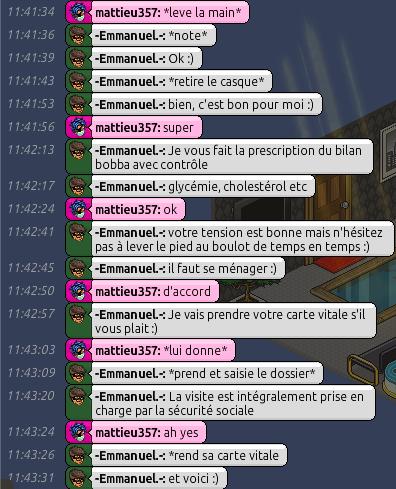 [C.H.U] Rapports d'actions RP d'-Emmanuel.- 513