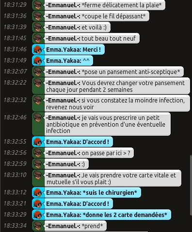 [C.H.U] Rapports d'actions RP d'-Emmanuel.- 515