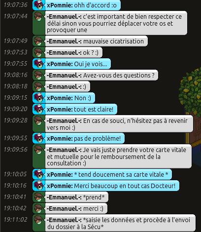 [C.H.U] Rapports d'actions RP d'-Emmanuel.- 611
