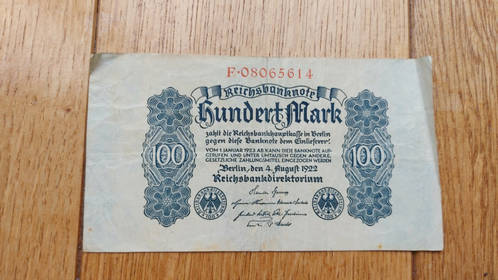 Billets allemands 20210467