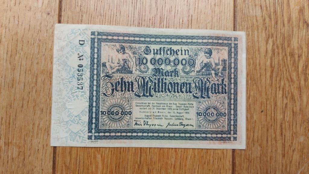 Billets allemands 20210468