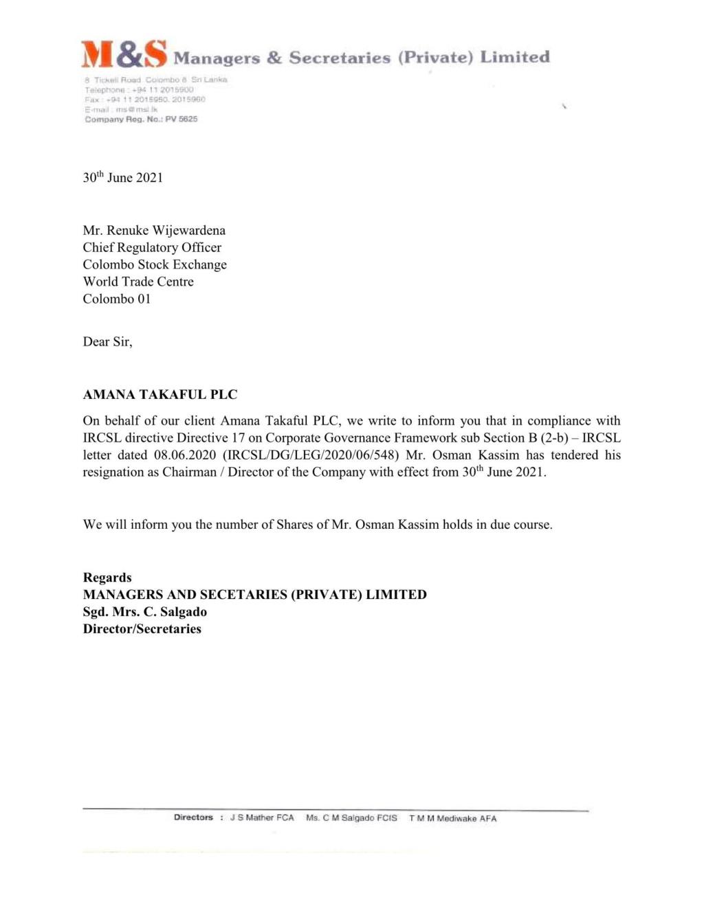 AMANA BANK LIMITED (ABL.N0000) F10