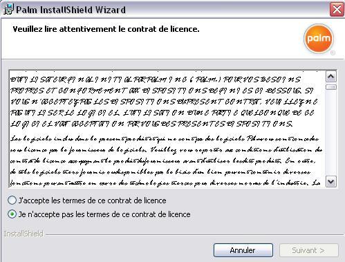 Lisez attentivement le contrat de licence Contra10