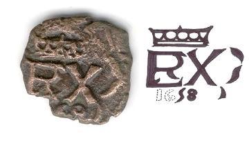 Resello anagrama PHILIPPVS/REX de 1658-9 1_rev14