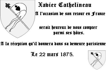 A l'attention de l'honorable Monsieur de Villèle. Xavier12