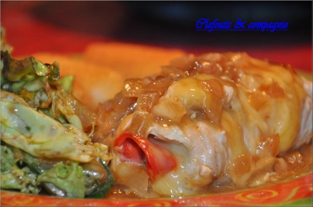 Roulade de dinde au Morbier et sa petite sauce à la Sarazen Dsc_0011