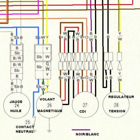 schéma allumage avec cdi 111