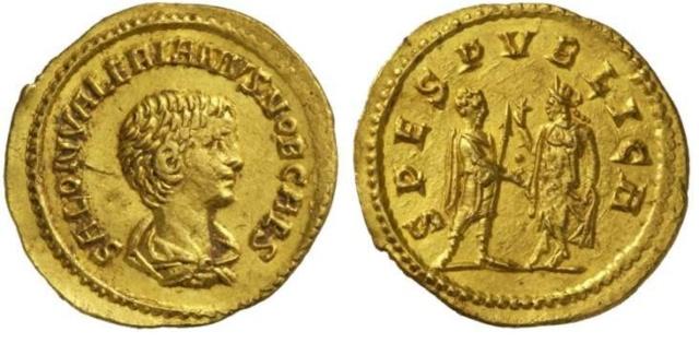 La fabrication des monnaies fourrées au 3e siècle Aureus10