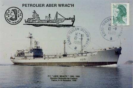 Carte postale dernier jour du Pétrolier Caboteur  Aberwrac'h 10-12-10