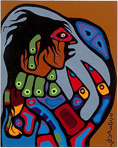 Peinture Shamanique - Tableaux  de Norval MORRISSEAU 1975_110