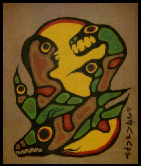 Peinture Shamanique - Tableaux  de Norval MORRISSEAU 1979-p10