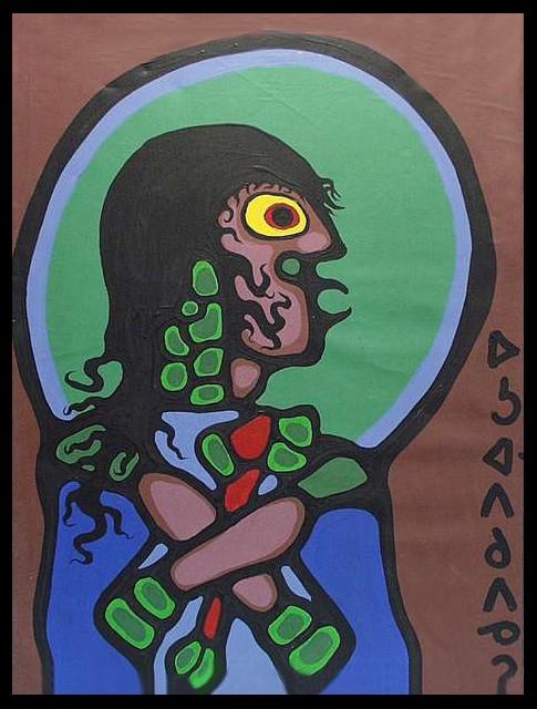 Peinture Shamanique - Tableaux  de Norval MORRISSEAU 36010