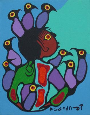 Peinture Shamanique - Tableaux  de Norval MORRISSEAU Boy_2010