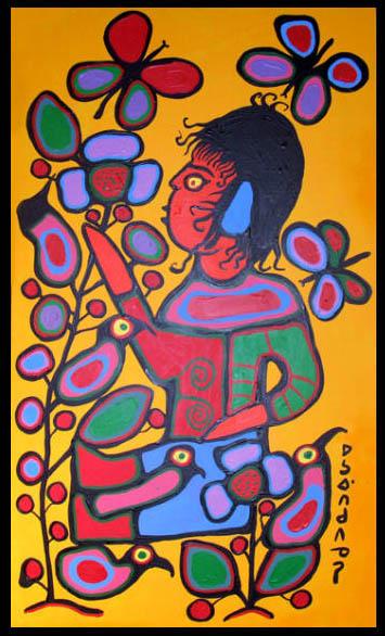 Peinture Shamanique - Tableaux  de Norval MORRISSEAU Childl10