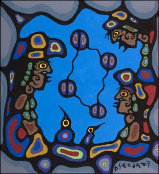 Peinture Shamanique - Tableaux  de Norval MORRISSEAU Circle10