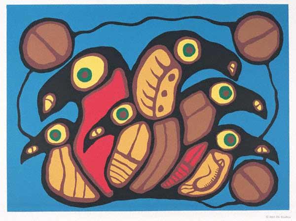 Peinture Shamanique - Tableaux  de Norval MORRISSEAU Commun10