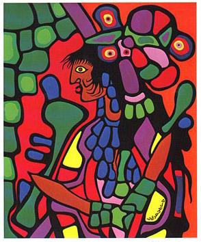 Peinture Shamanique - Tableaux  de Norval MORRISSEAU Great210