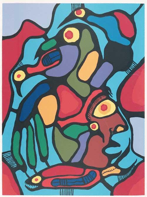 Peinture Shamanique - Tableaux  de Norval MORRISSEAU Life_i10