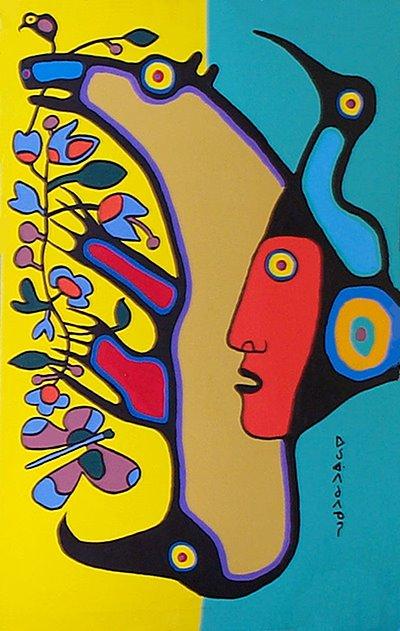 Peinture Shamanique - Tableaux  de Norval MORRISSEAU Mor2bc10