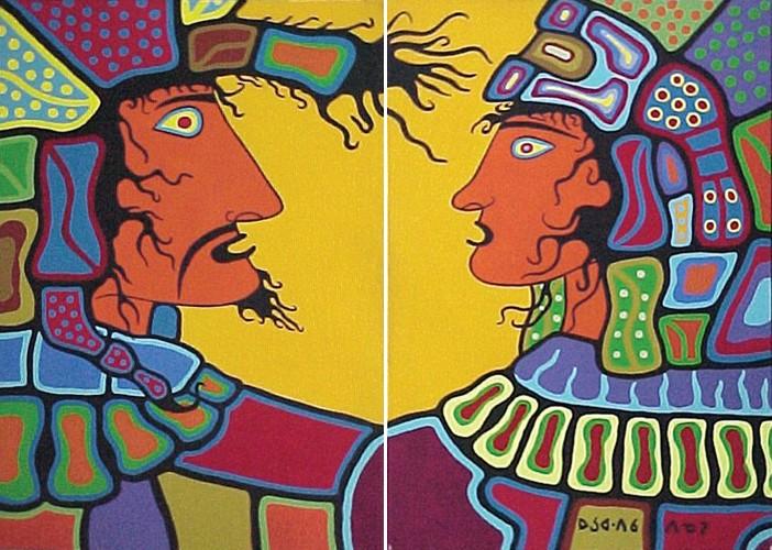Peinture Shamanique - Tableaux  de Norval MORRISSEAU Mtl0510