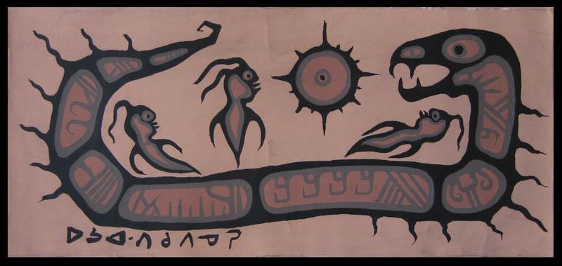 Peinture Shamanique - Tableaux  de Norval MORRISSEAU Nm196010