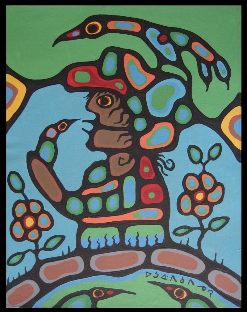 Peinture Shamanique - Tableaux  de Norval MORRISSEAU Nm197310
