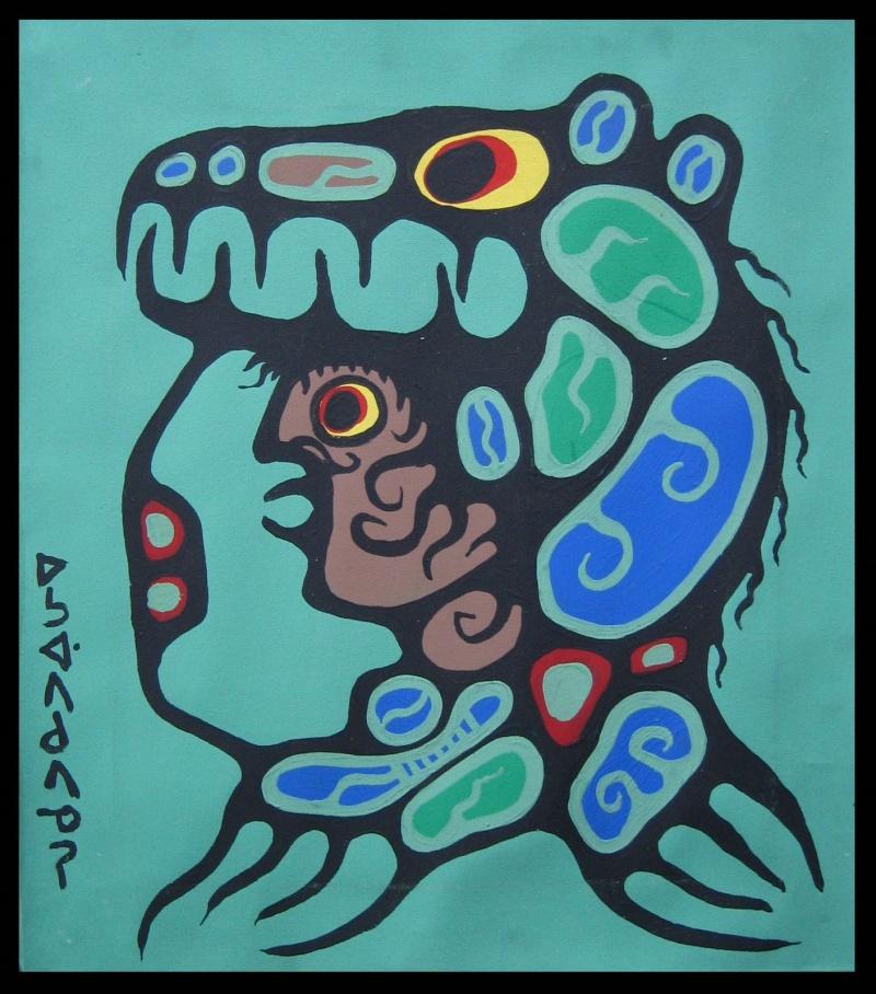 Peinture Shamanique - Tableaux  de Norval MORRISSEAU Nm197410