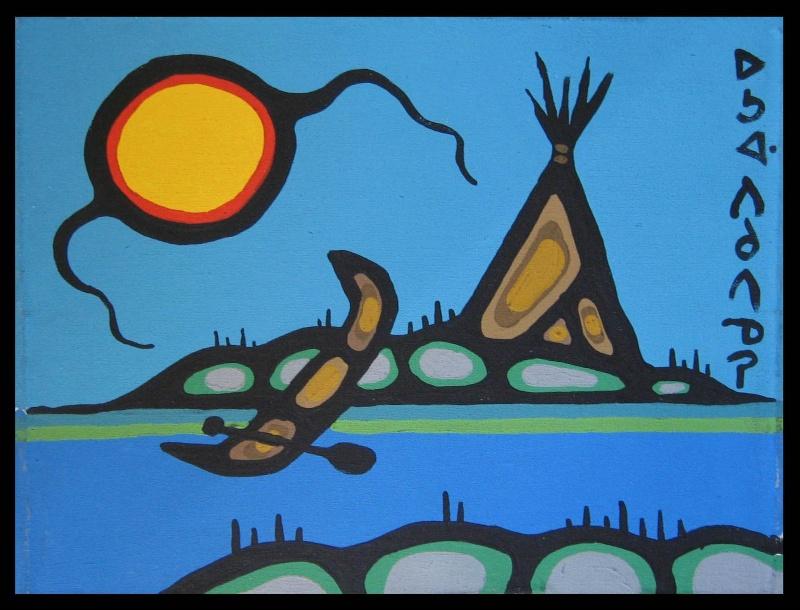 Peinture Shamanique - Tableaux  de Norval MORRISSEAU Nm197610