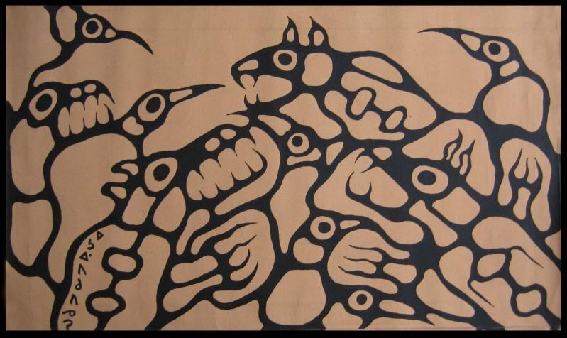 Peinture Shamanique - Tableaux  de Norval MORRISSEAU Nm198412