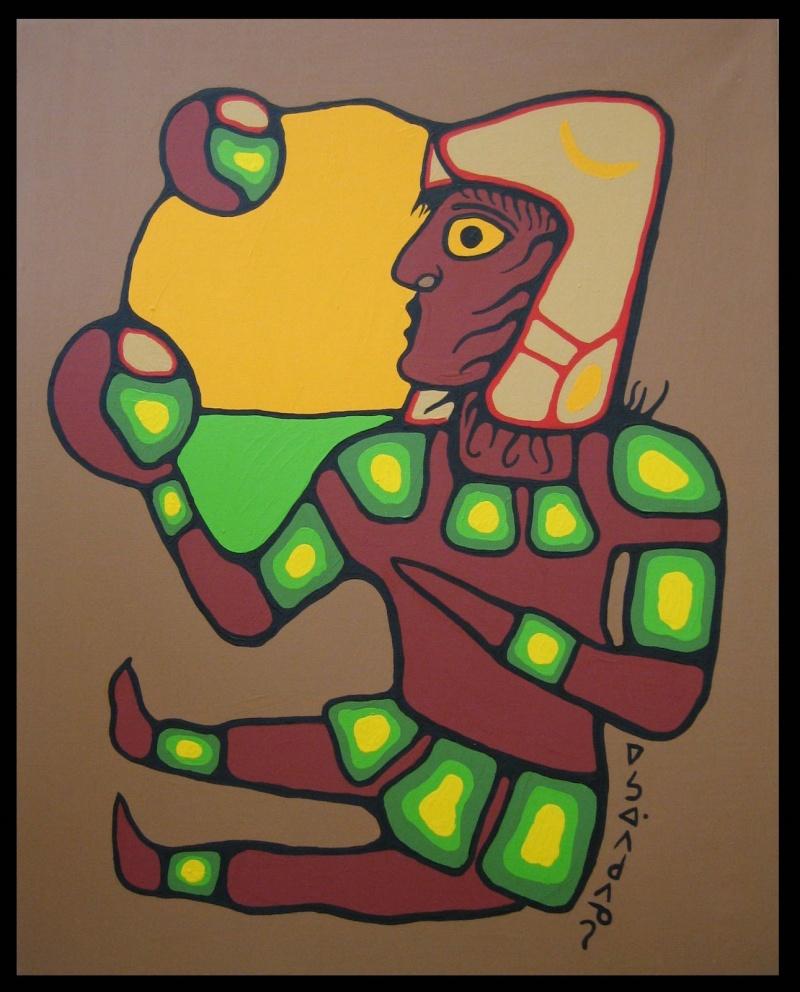Peinture Shamanique - Tableaux  de Norval MORRISSEAU Nm198610