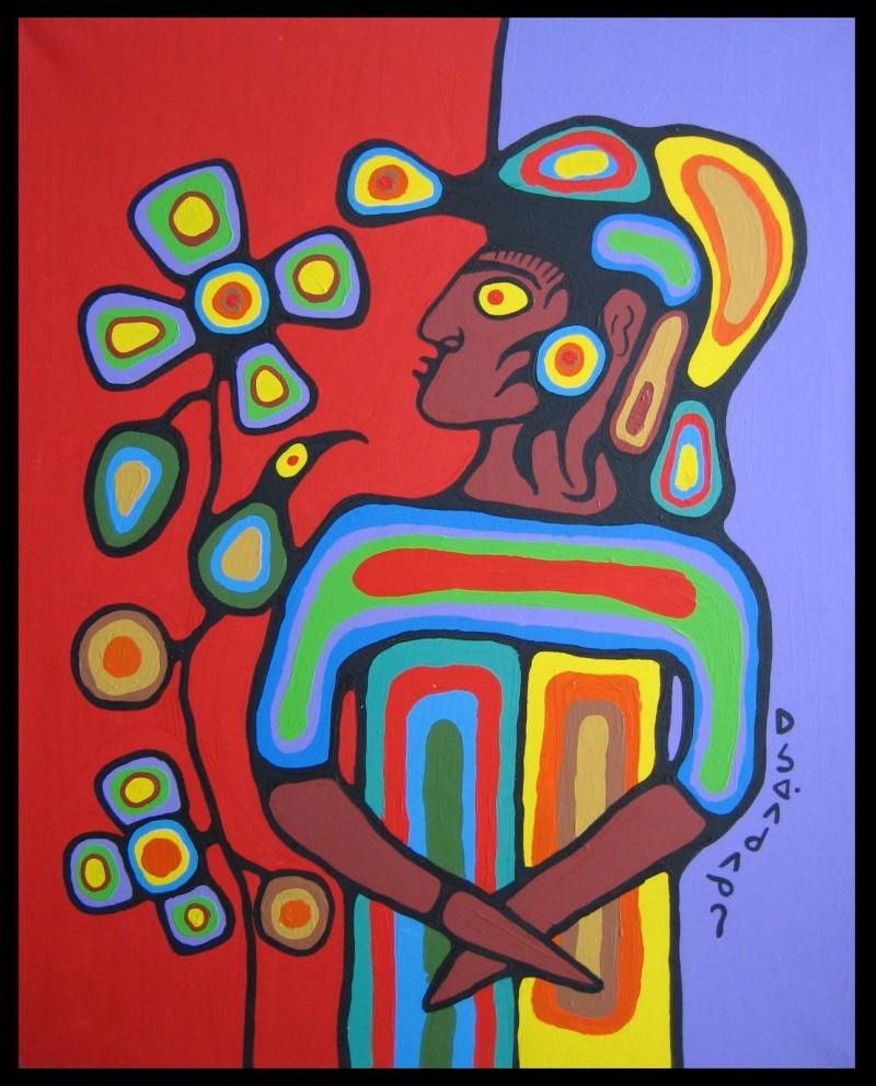 Peinture Shamanique - Tableaux  de Norval MORRISSEAU Nm199910