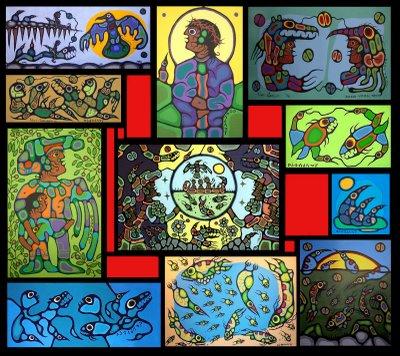 Peinture Shamanique - Tableaux  de Norval MORRISSEAU Norval14