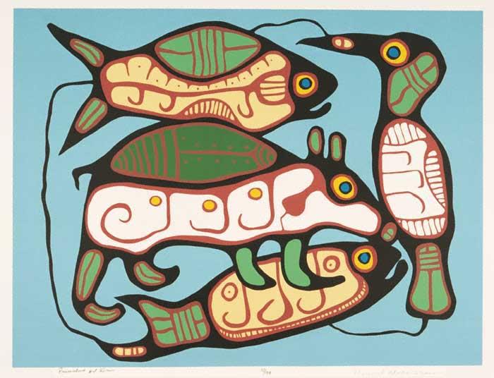 Peinture Shamanique - Tableaux  de Norval MORRISSEAU Primit10