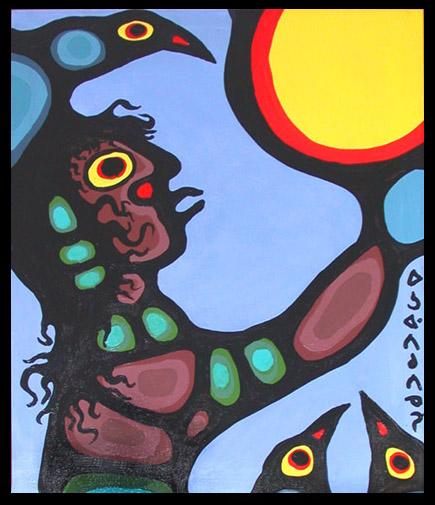 Peinture Shamanique - Tableaux  de Norval MORRISSEAU Shaman10