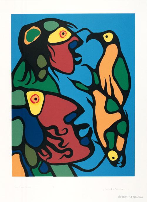 Peinture Shamanique - Tableaux  de Norval MORRISSEAU Soul_l10
