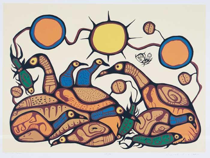 Peinture Shamanique - Tableaux  de Norval MORRISSEAU Spirit11