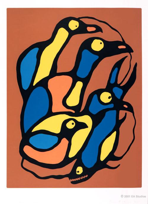Peinture Shamanique - Tableaux  de Norval MORRISSEAU Spirit12